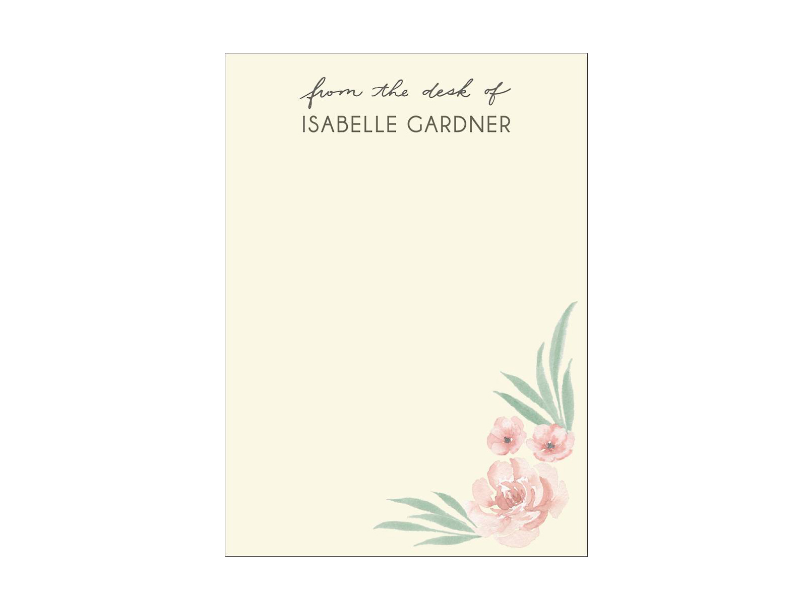 Delicate Flowers Personalized Stationery