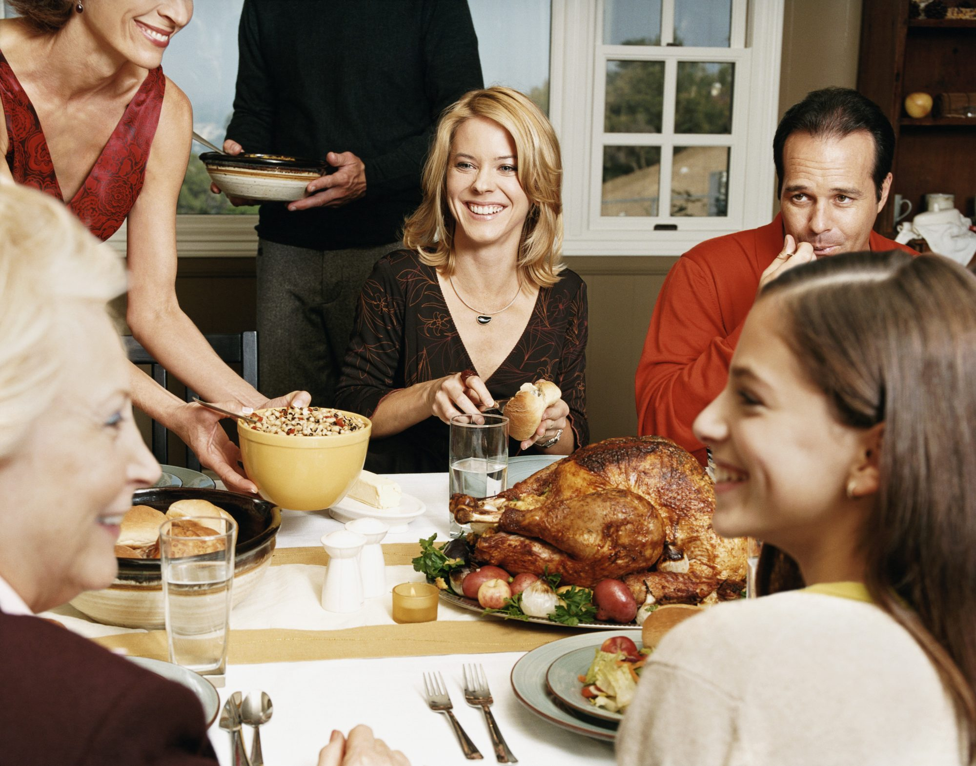 Family at Table for Thanksgiving