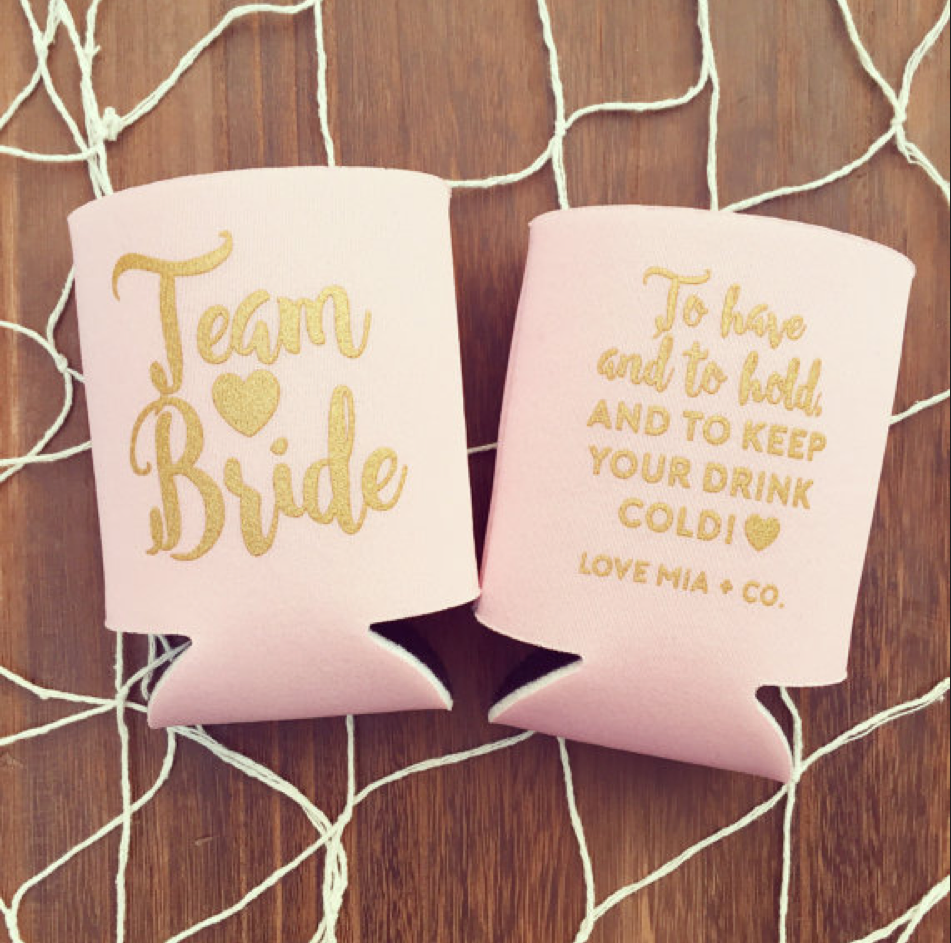 Team Bride Drink Coolers