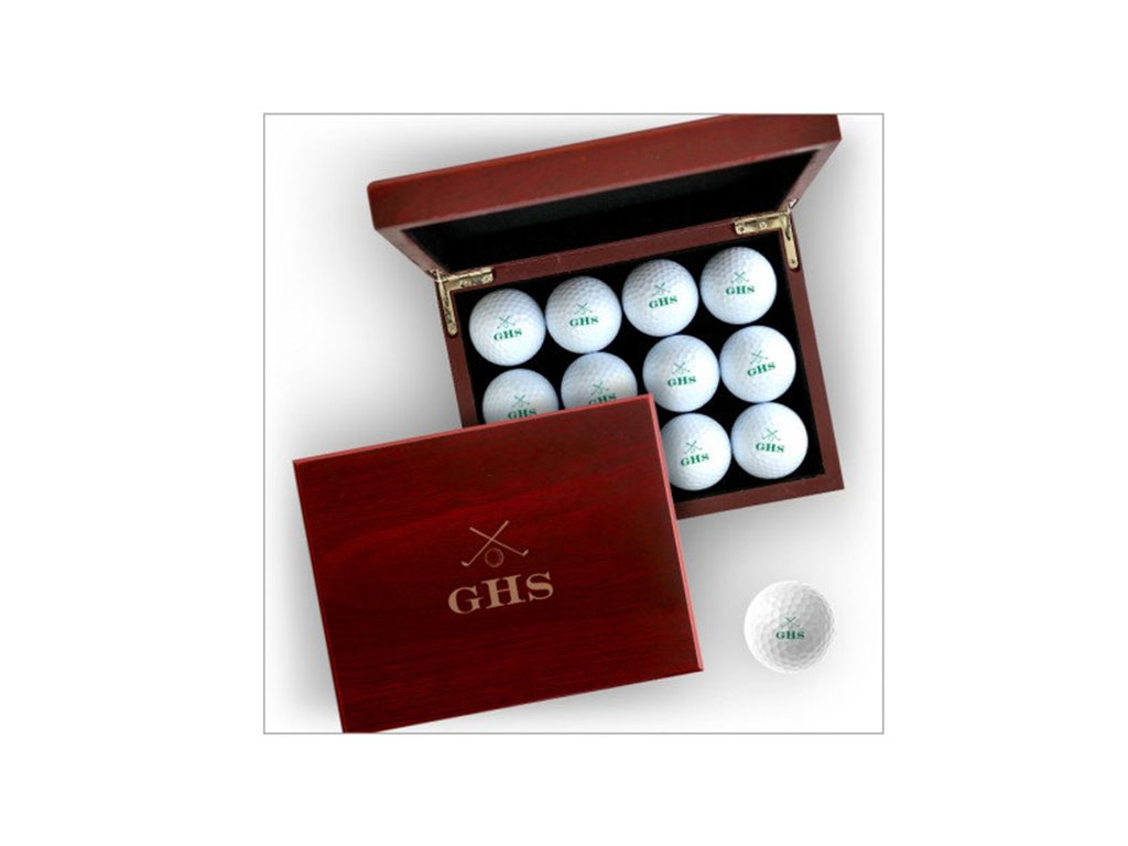 Personalized Golf Balls with Case
