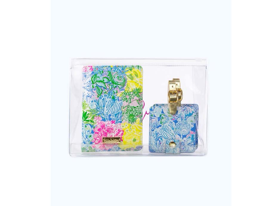 Lilly Pulitzer Passport and Luggage Tag Travel Set