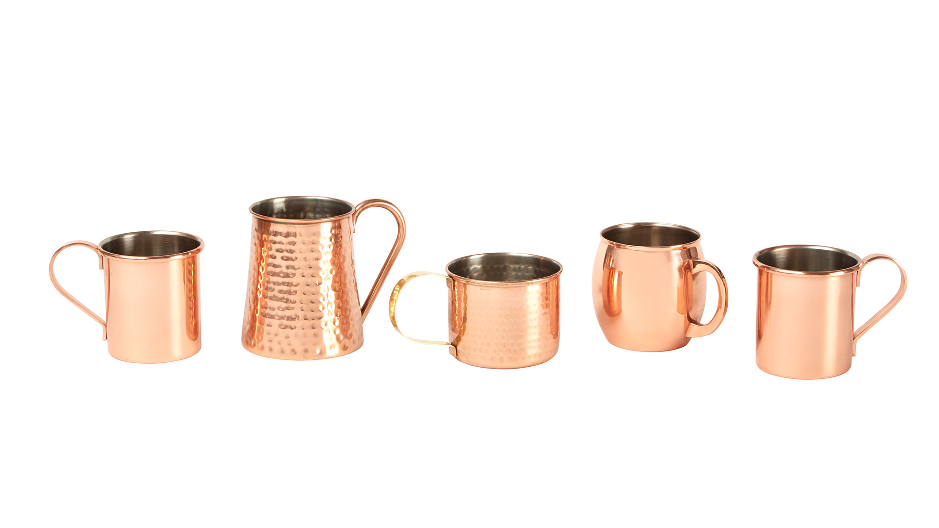 Assorted Copper Mugs