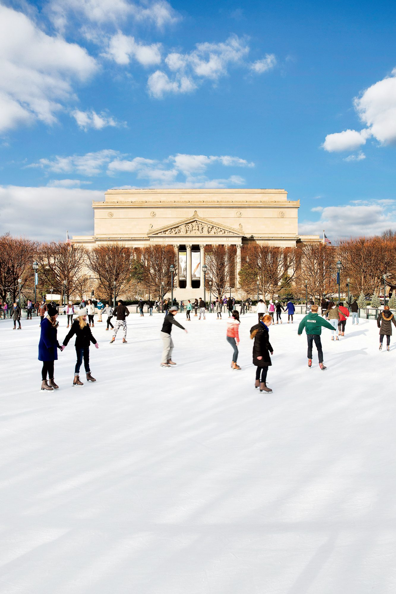 National Gallery of Art Sculpture Garden Ice Rink in Washington, DC