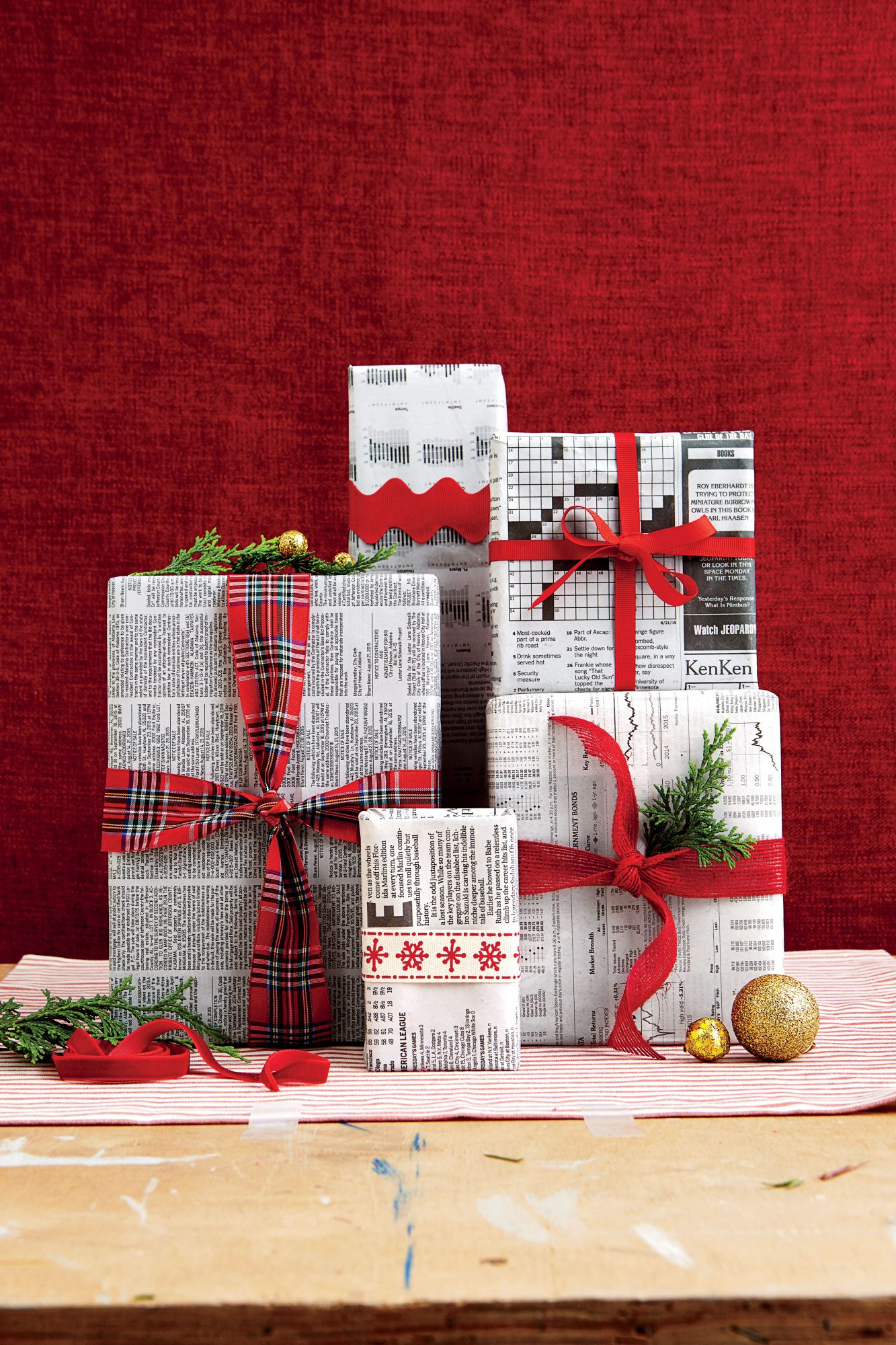 How to recycle wrapping paper southern living for Paper christmas gifts