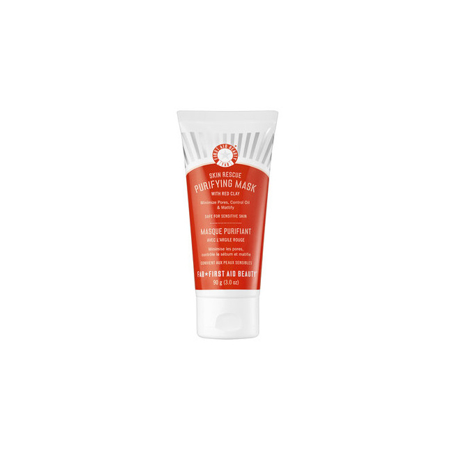 Oily Sking: First Aid Beauty Skin Rescue Purifying Mask With Red Clay