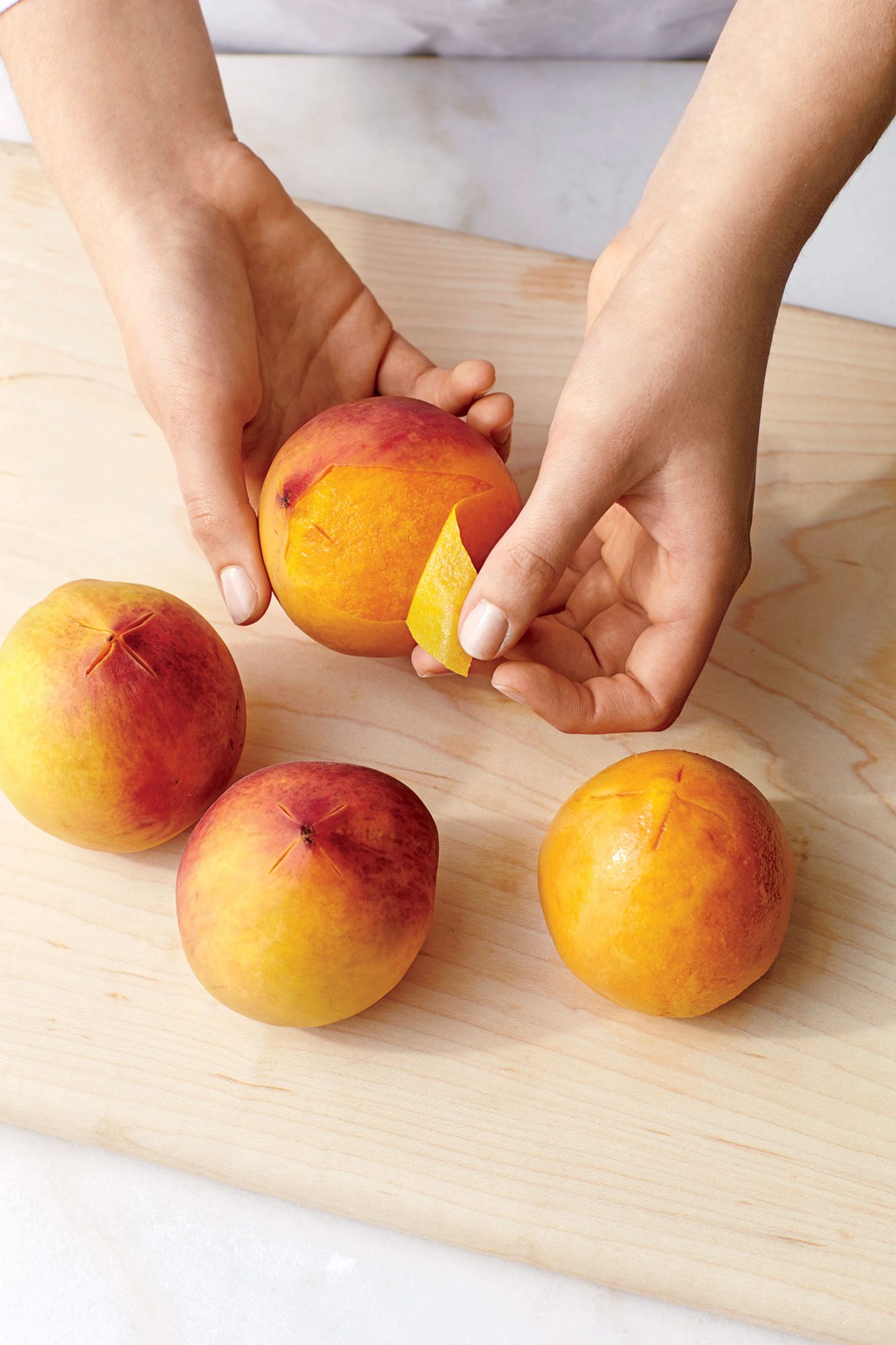 How to Peel Peach