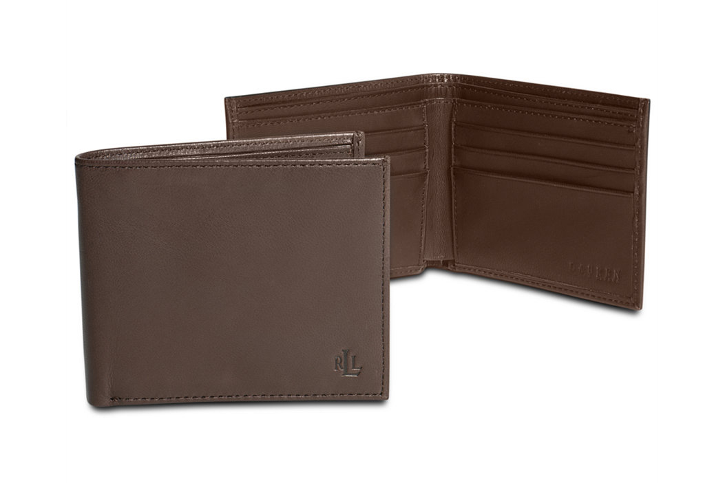 Lauren Ralph Lauren Burnished Leather Slim Billfold Wallet