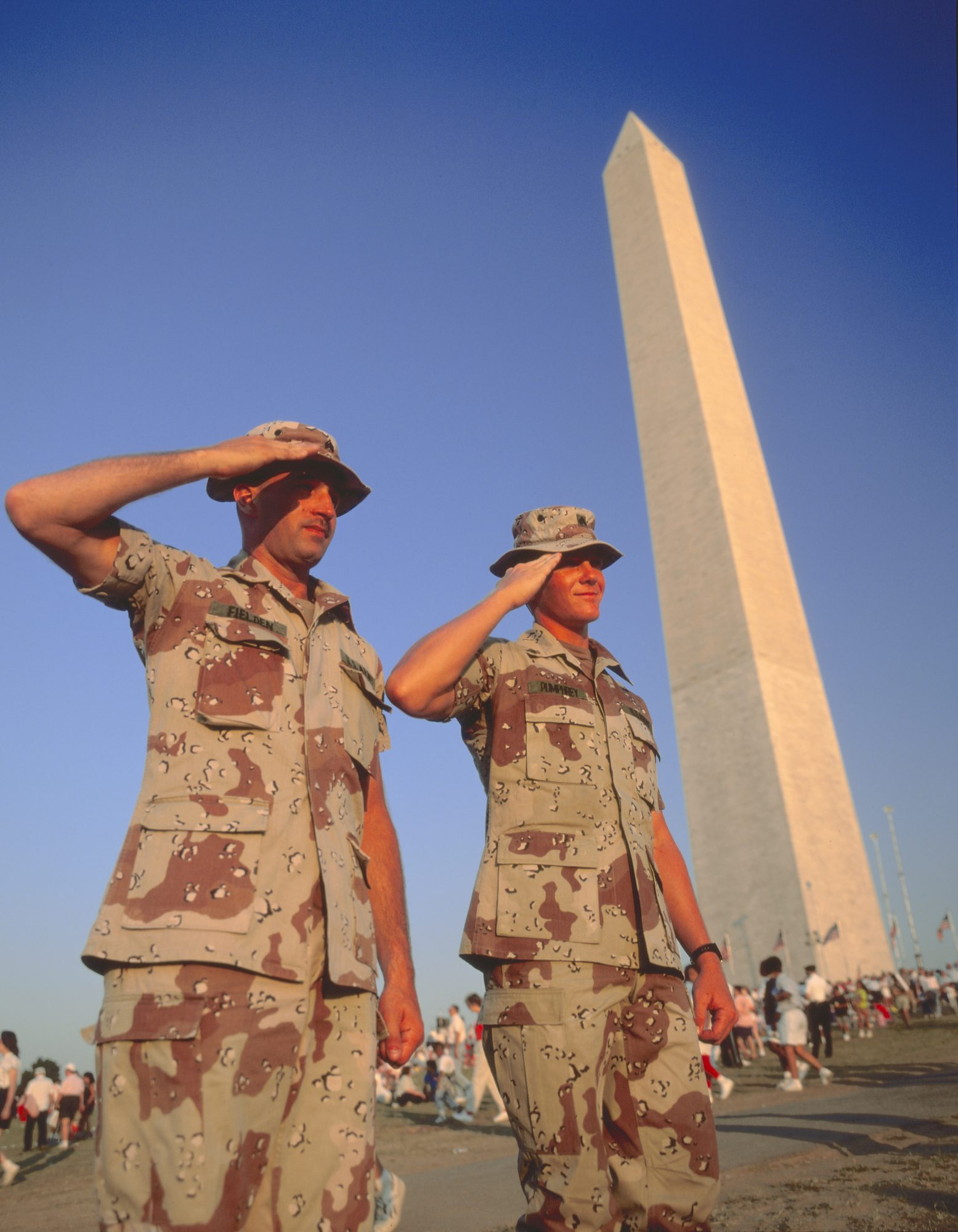 Soldiers Salute Washington Monument
