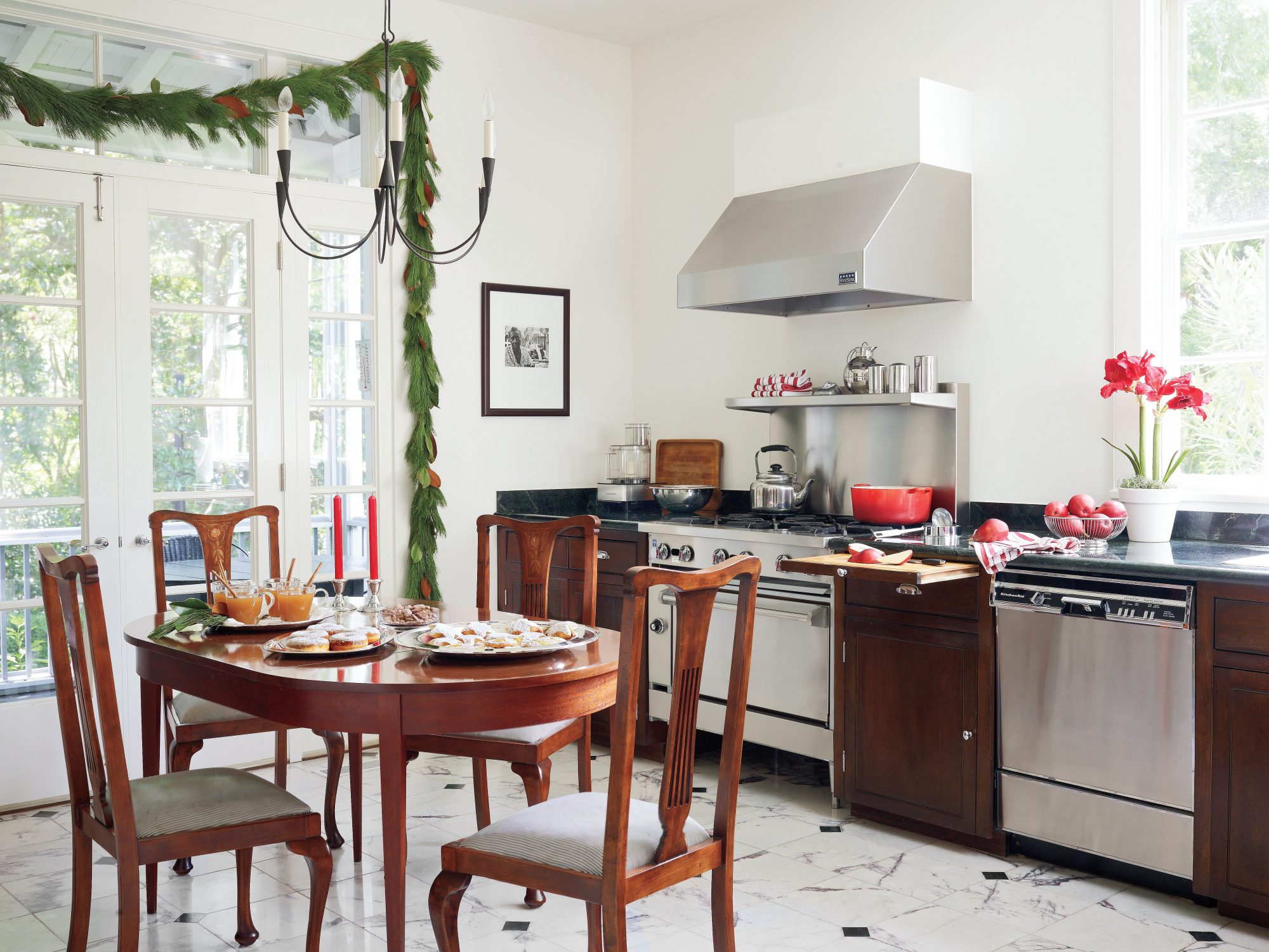 Christmas Kitchens merry Pop of Color