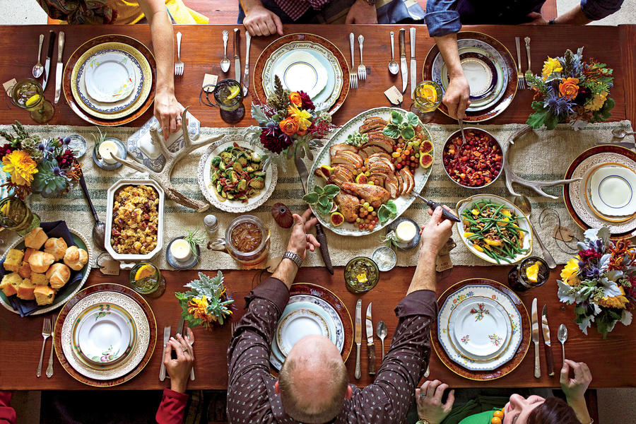Family at Thanksgiving Table
