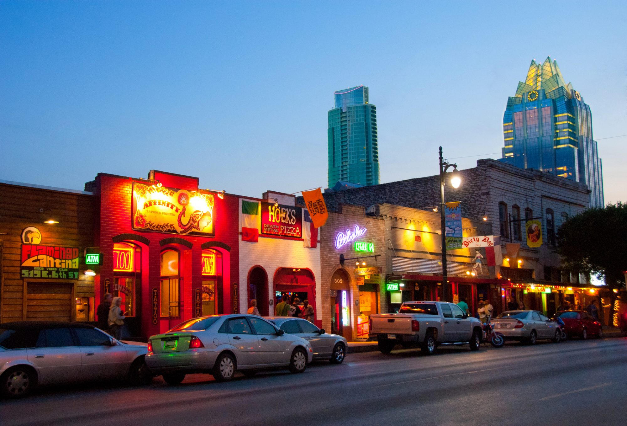 Block of Restaurants in Austin
