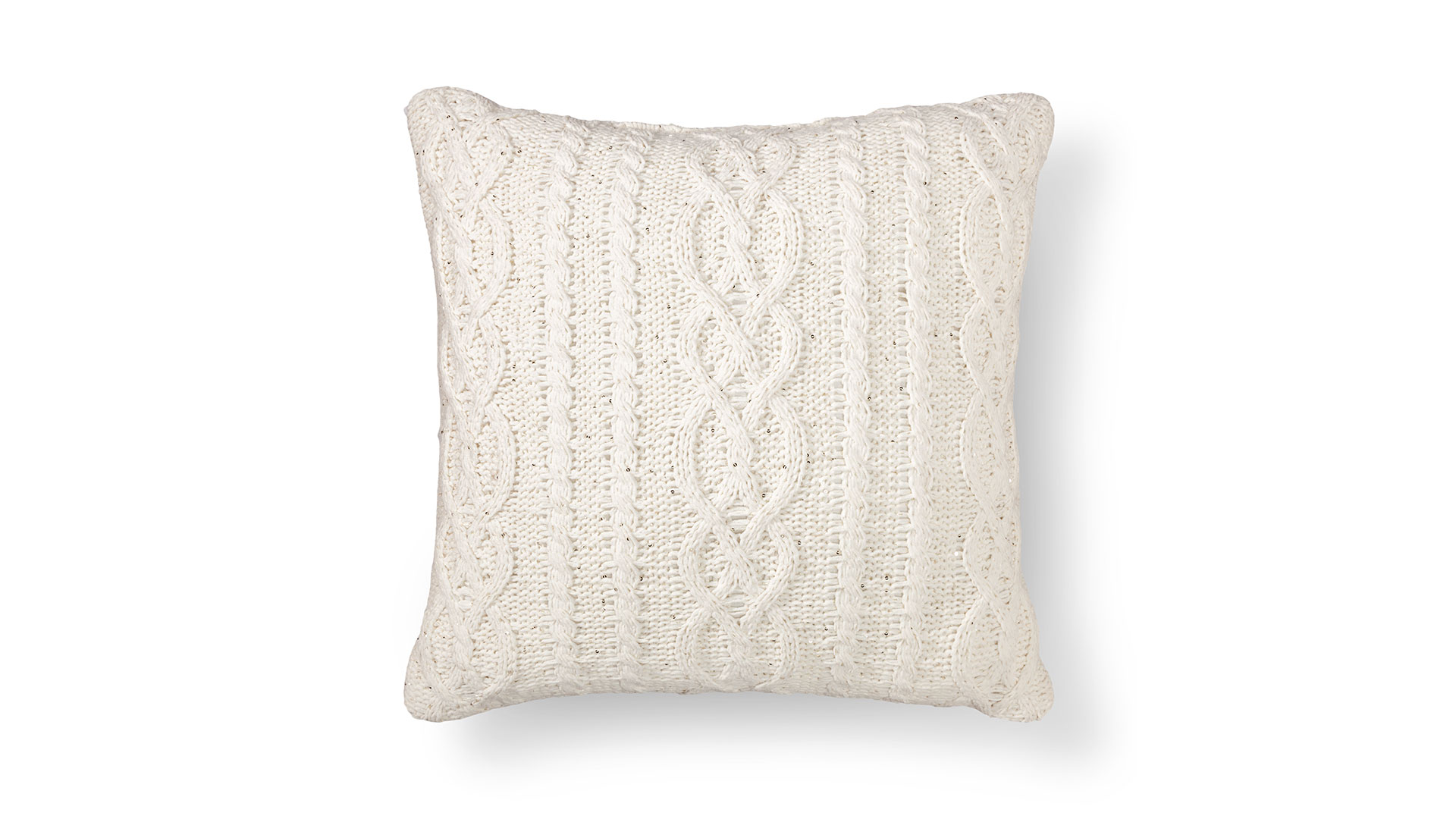 Chenille Sequin Row Pillow