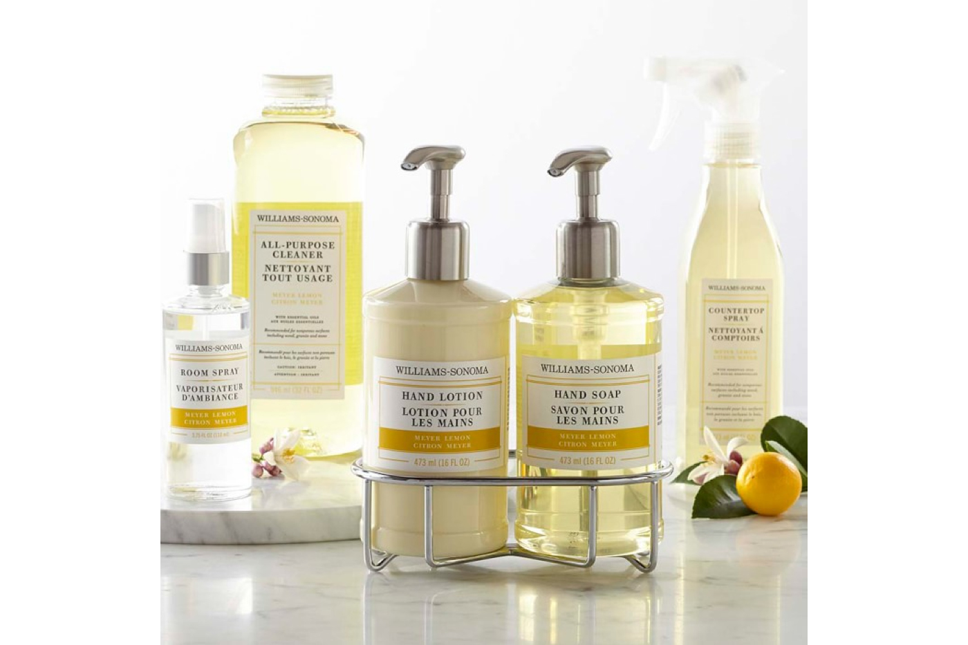 Hand Soap & Lotion Set Essential Oils Collection in Meyer Lemon