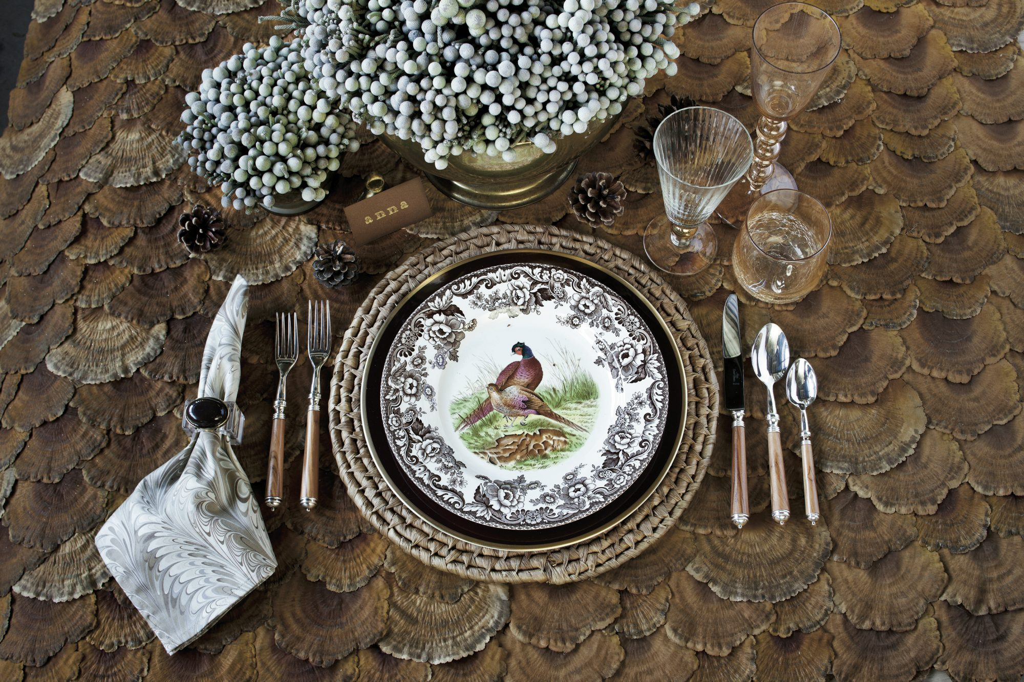 Christmas Table Setting Rustic and Refined