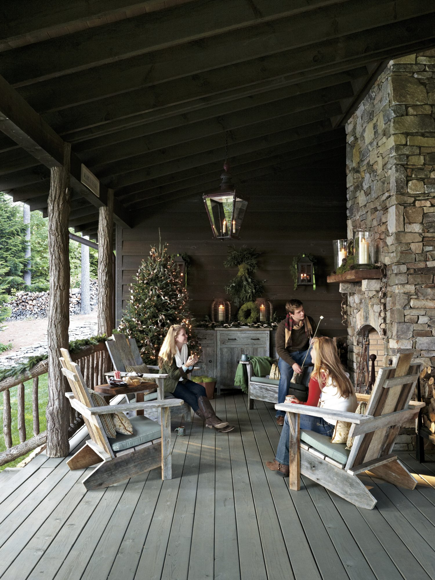 Christmas Exteriors Refined Rustic Retreat