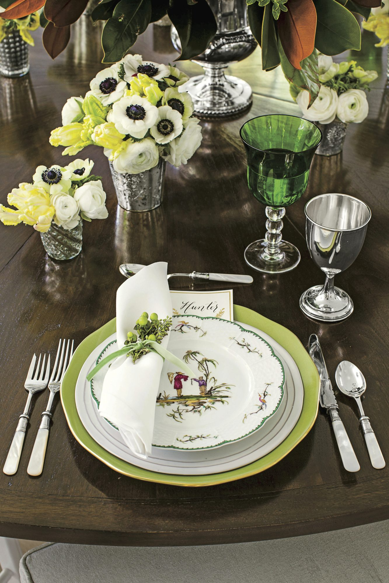 Christmas Table Setting Airy Evergreen