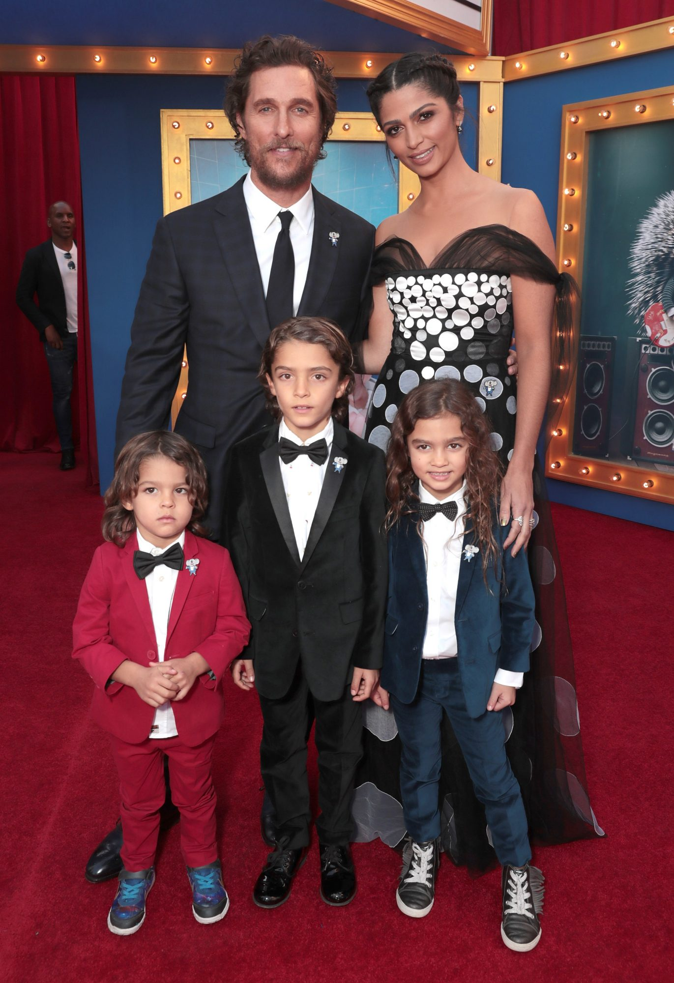 Matthew McConaughey, Camila Alves and family attend the premiere Of Universal Pictures' 'Sing' on December 3, 2016 in Los Angeles, California.