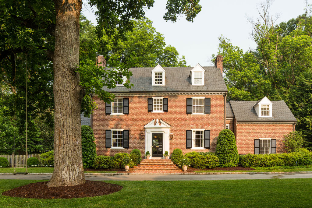 Two-Story Red Brick Home