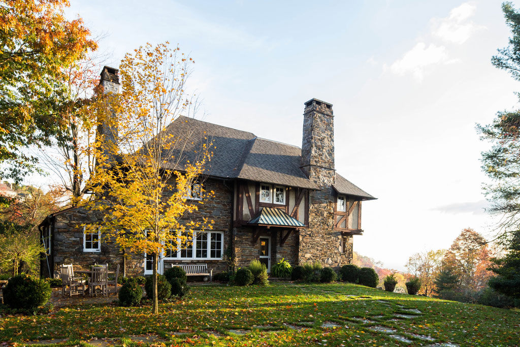 Fall Tudor Home in Mountains