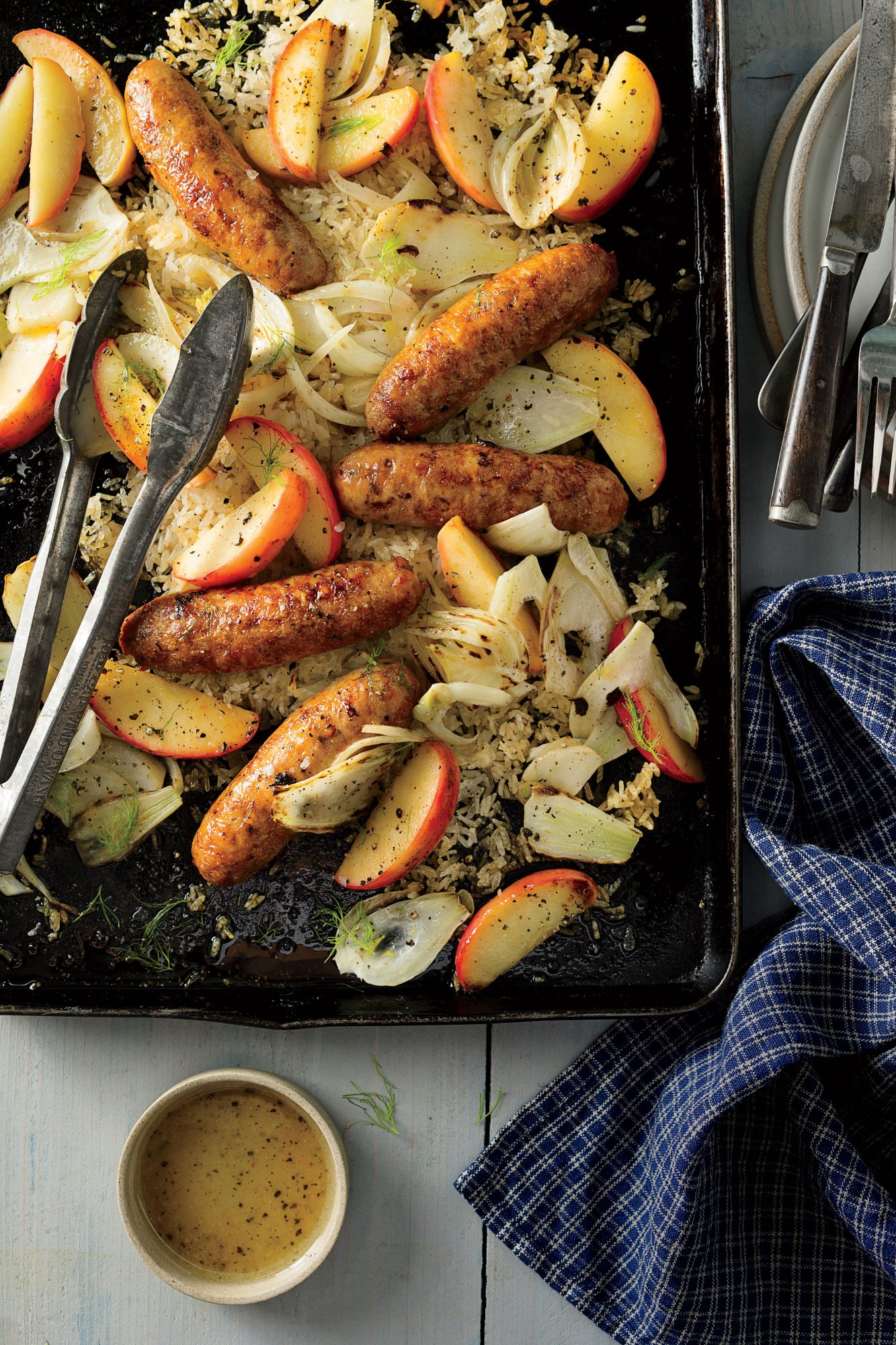 Chicken Sausage with Fennel and Apples