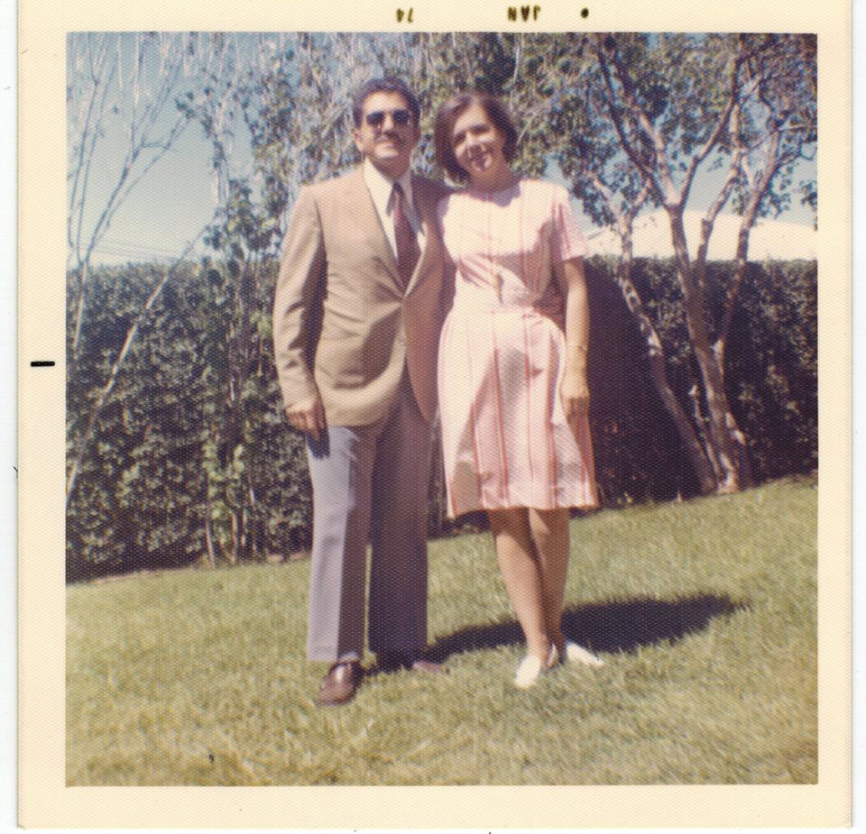 Lt. Col. Azad and Margaret Rose Husnian in Pink Dress