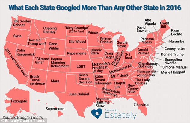 States Most Googled Terms