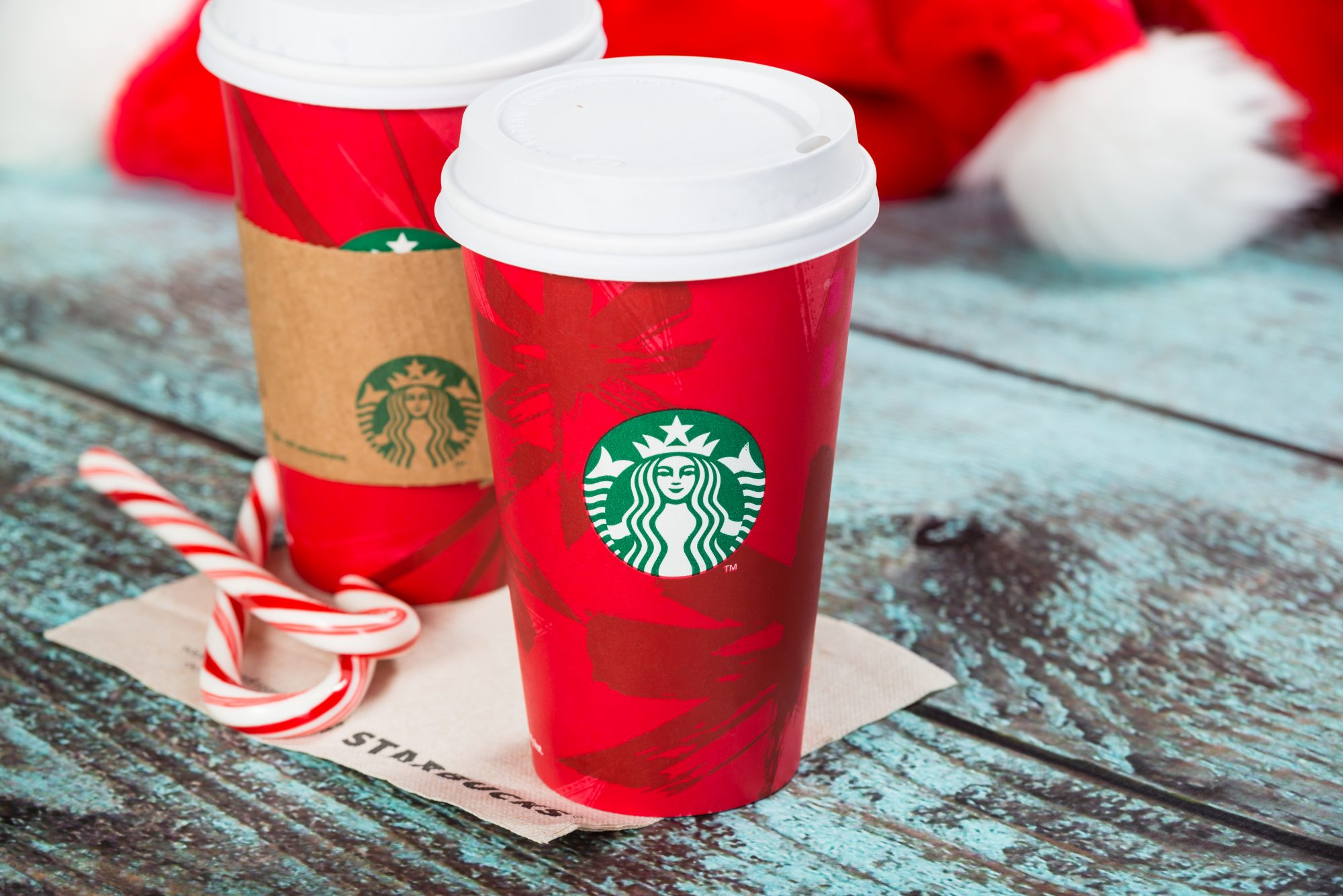 Red Starbucks Cup
