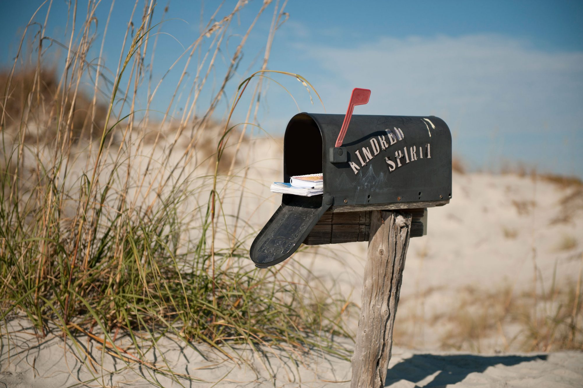 Mailbox on Bird Island North Carolina