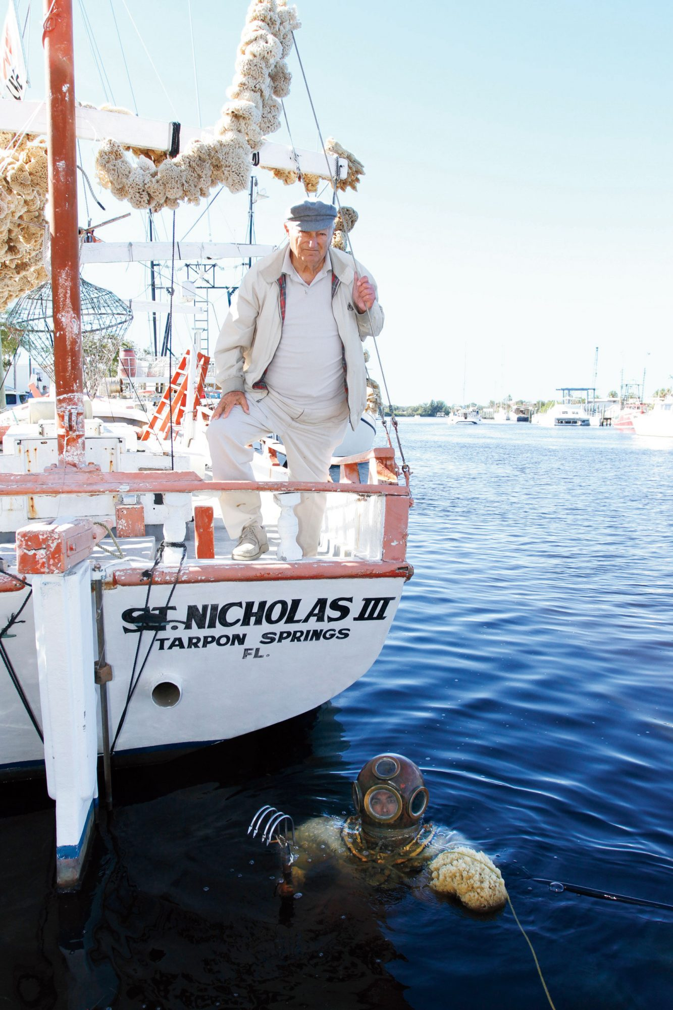 Tarpon Springs Man on Boat