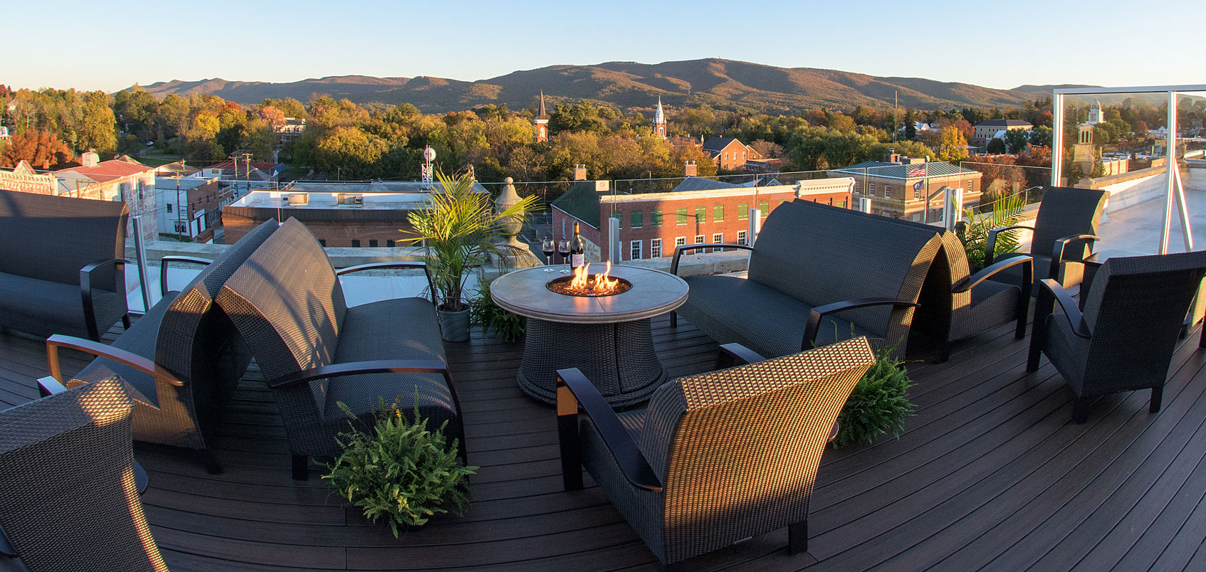 Bolling Wilson Hotel Perch Rooftop Terrace Virginia