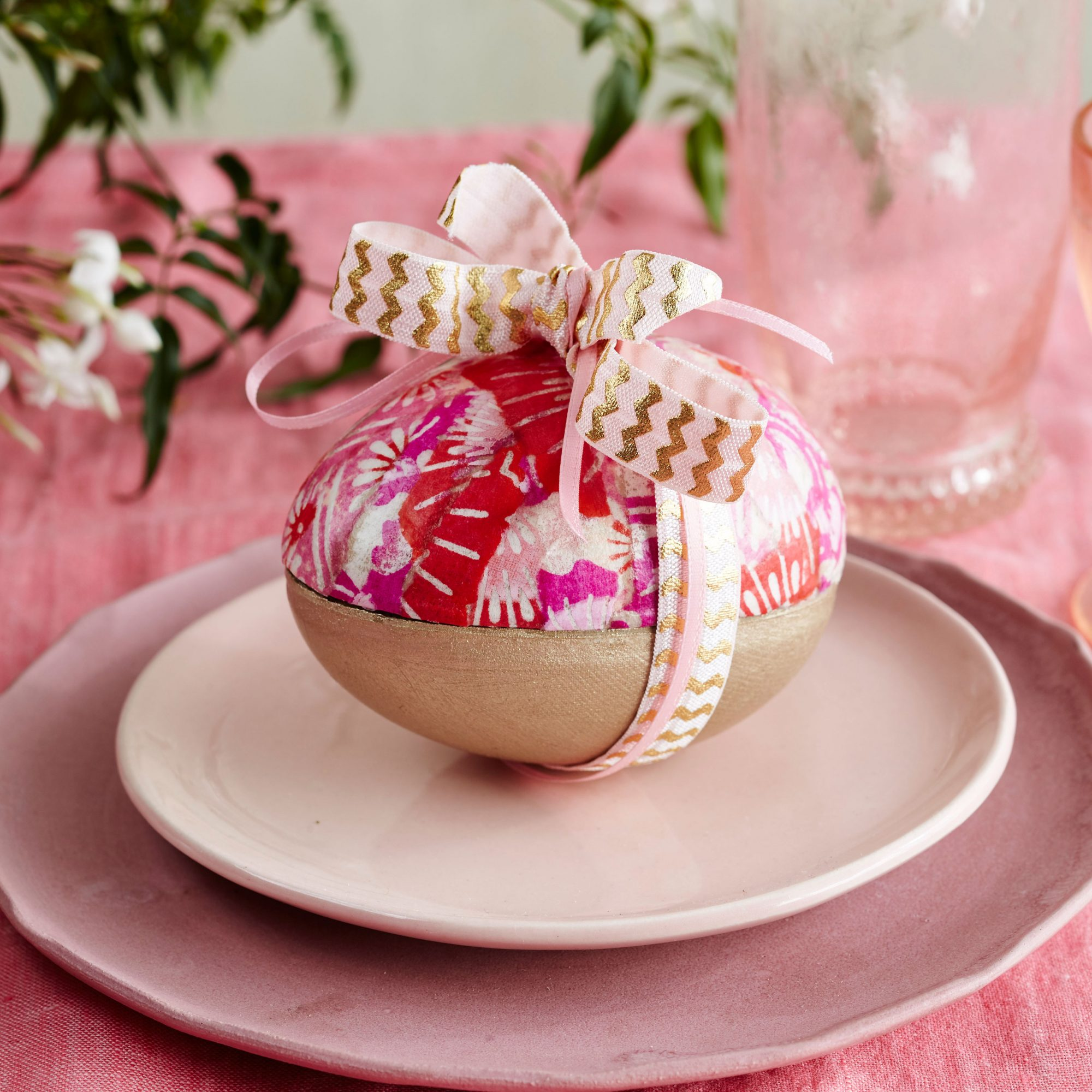 Ribbon Wrapped Easter Eggs