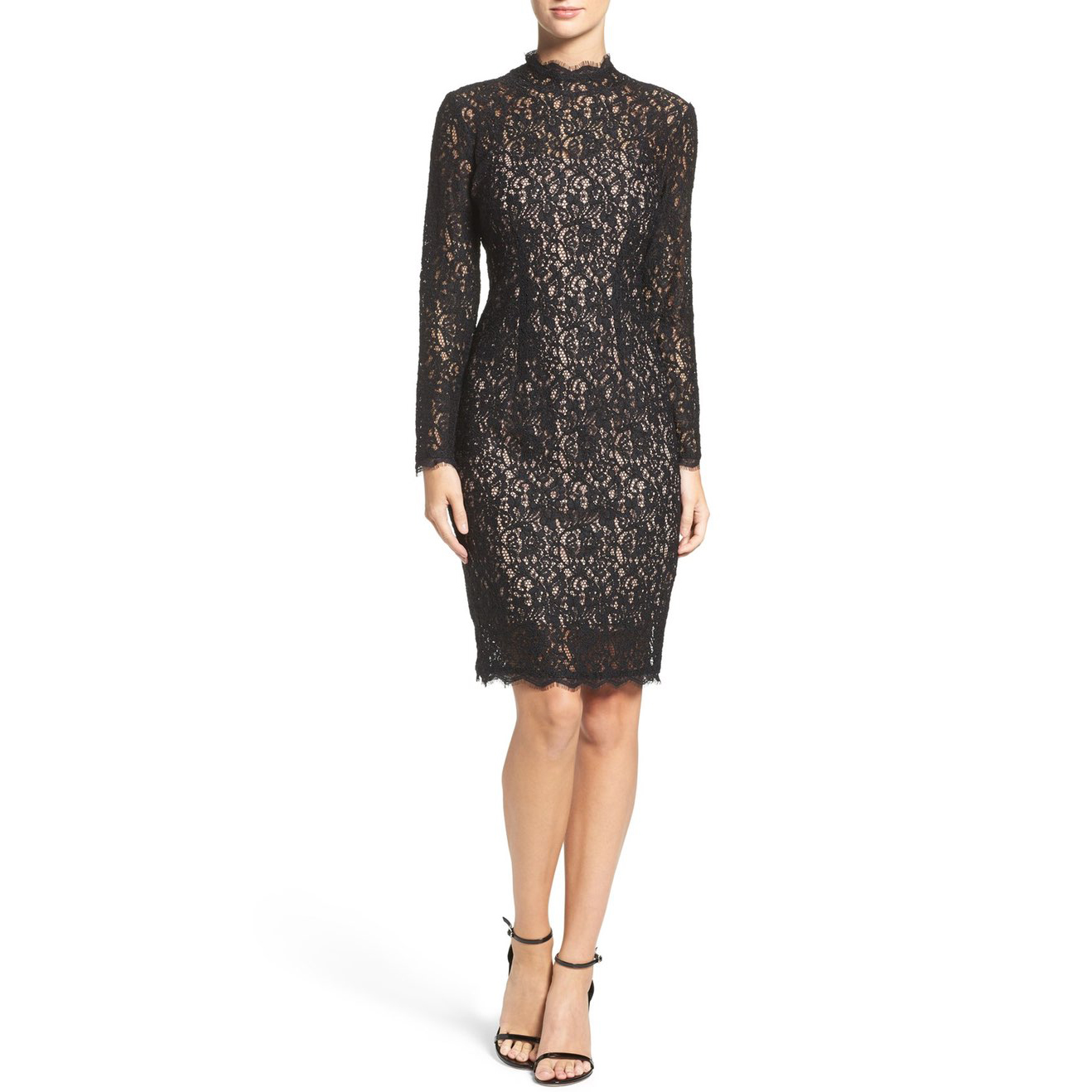 Adrianna Papell Corded Lace Sheath Dress