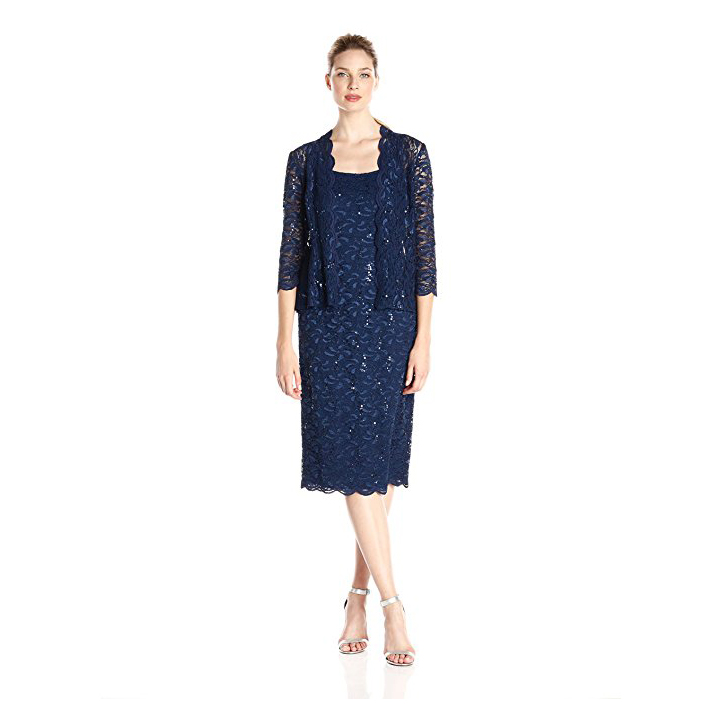 Alex Evenings Women's Two-Piece Set With Dress and Jacket
