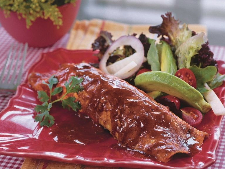 Chicken-and-Black Bean Enchiladas