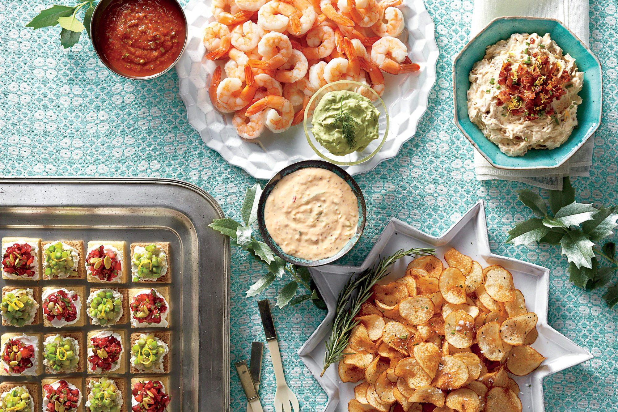 Best party appetizers and recipes southern living cranberry goat cheese canaps forumfinder Images