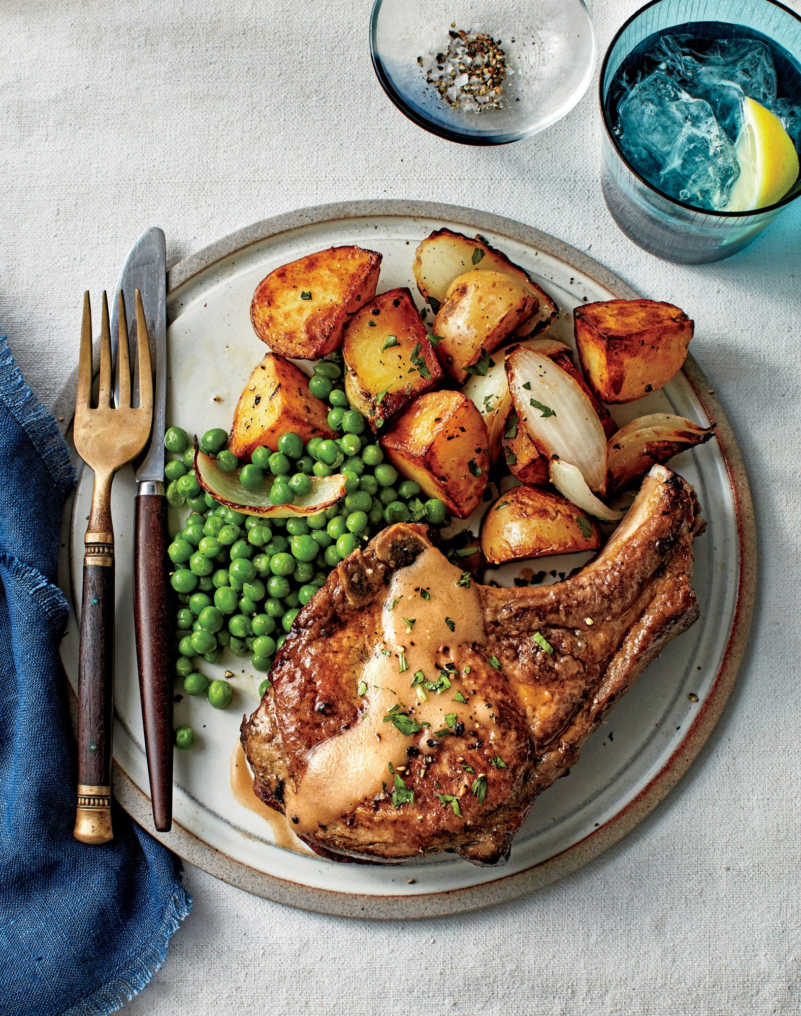 Simple Suppers Challenge: Fried Pork Chops with Peas and Potatoes