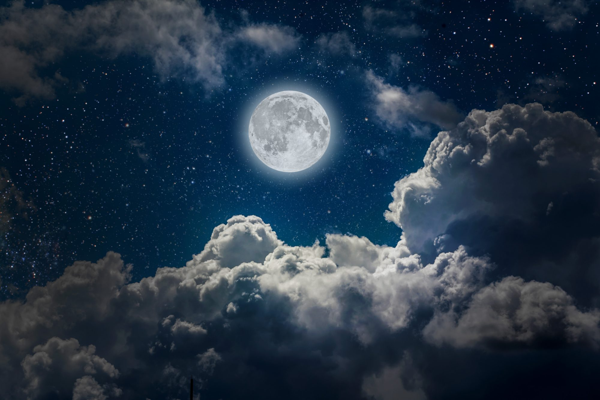 Full Moon Night Sky