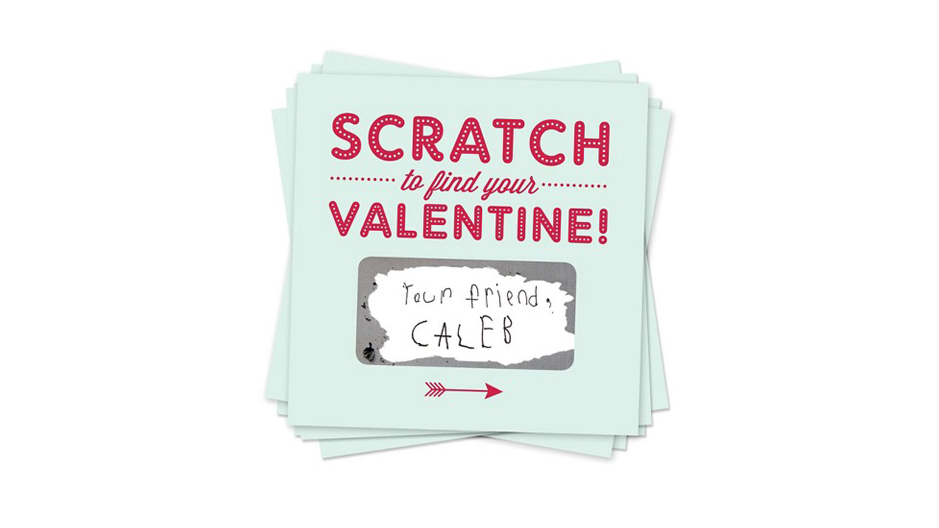 Scratch-Off Valentine's Day Cards