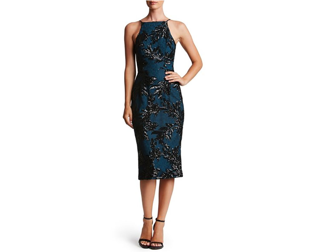 Dress the Population Sequin Lace Sheath Dress