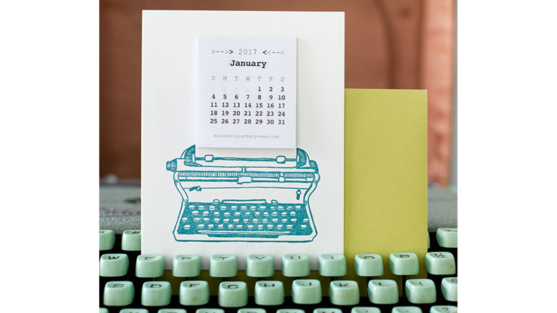 Mini Typewriter Calendar