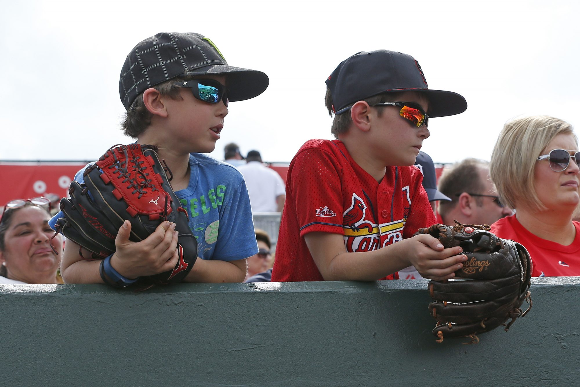 Cardinals Fans at Baseball Game