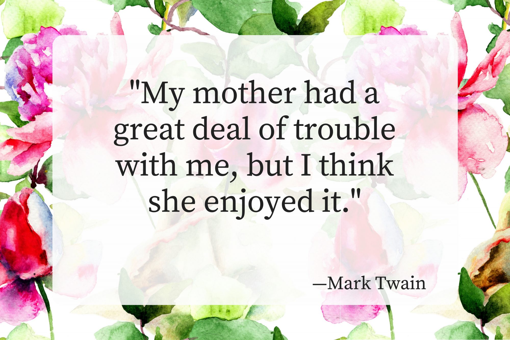 Mothers Day Quotes Mark Twain