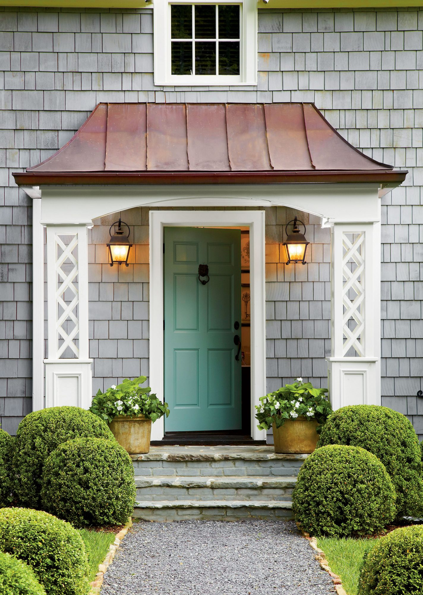 What 39 s the best color for your front door southern living - What color door goes with gray house ...