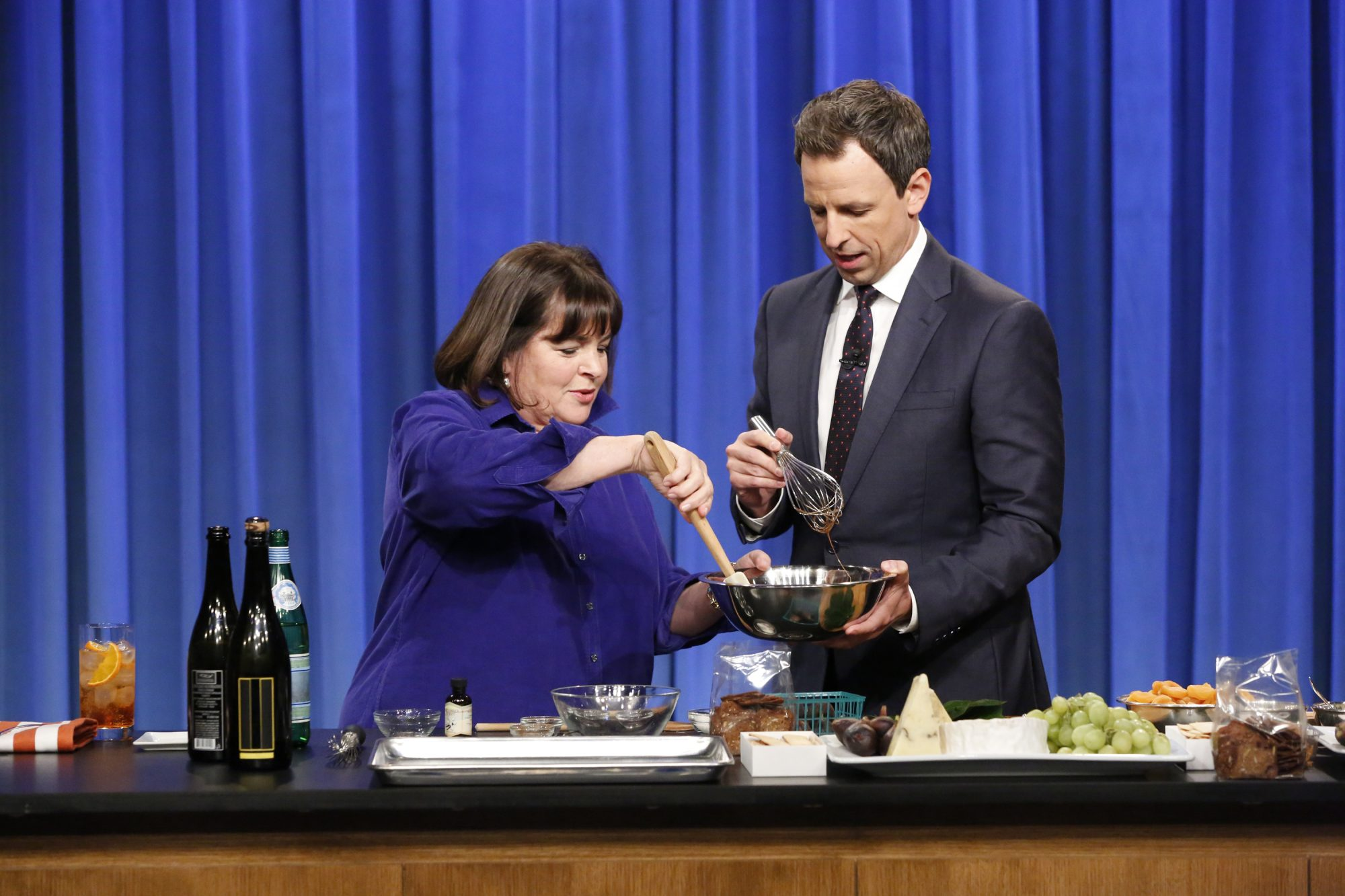 Ina Garten and Seth Meyers