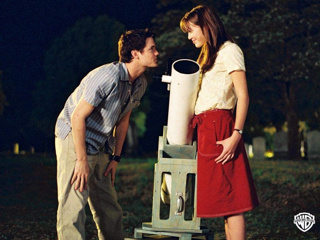 In A Walk to Remember, when Landon completes everything on Jamie's bucket list