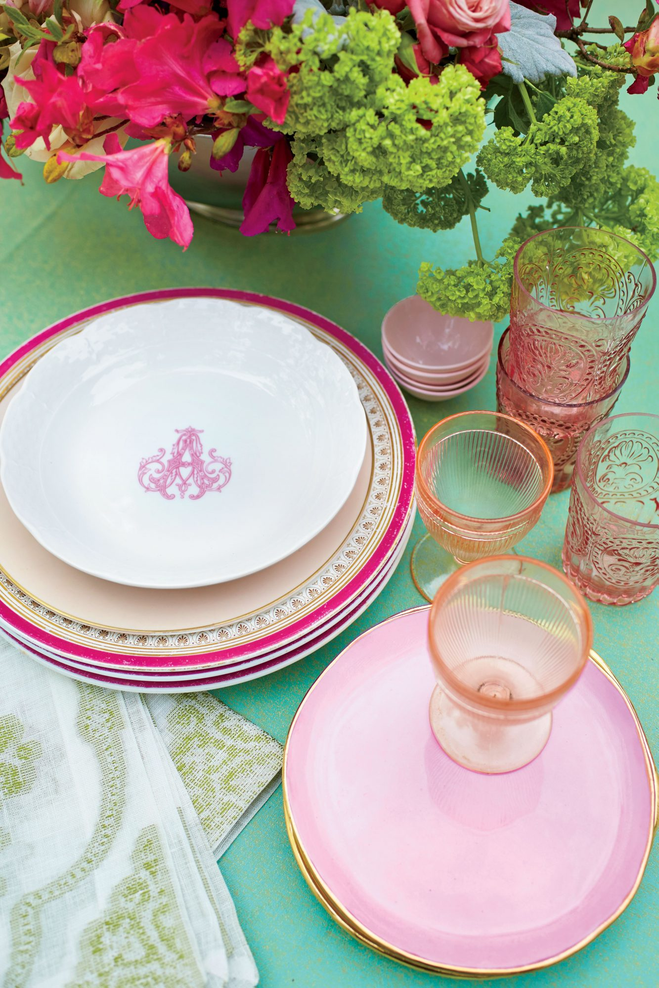 Azalea Flower Spring Party Place Setting