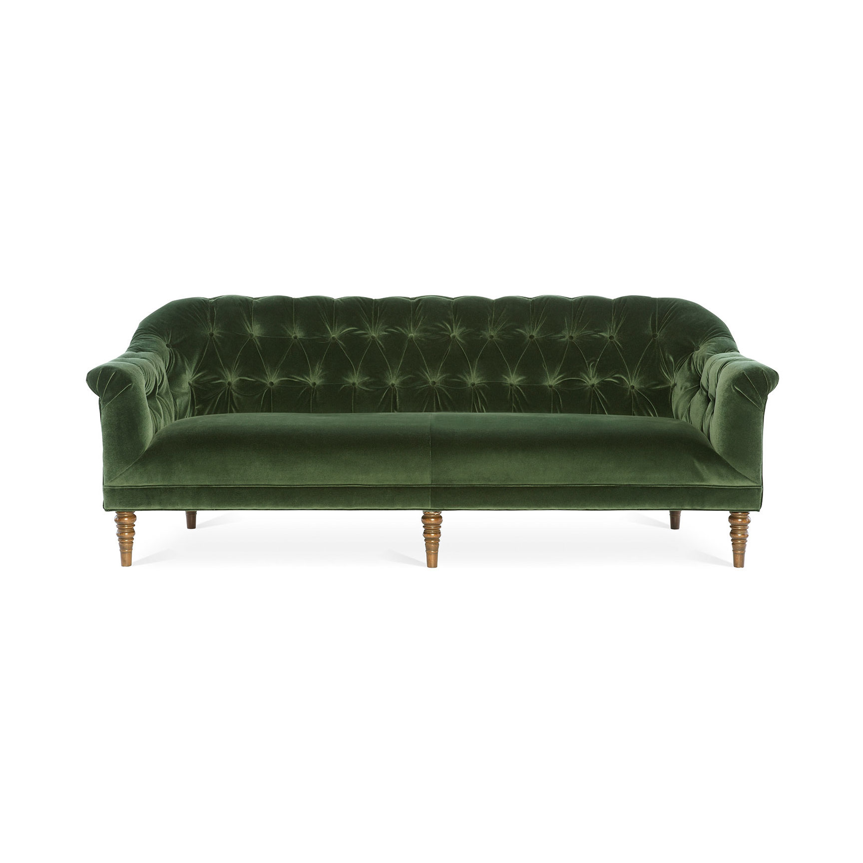Green Cotton Velvet Sofa