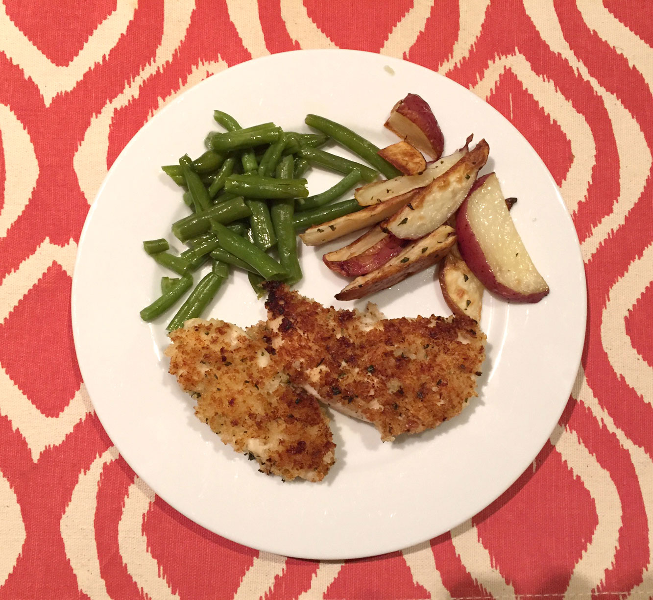 Simple Suppers Challenge: Buttermilk Chicken Tenders with Roasted Potatoes and Green Beans