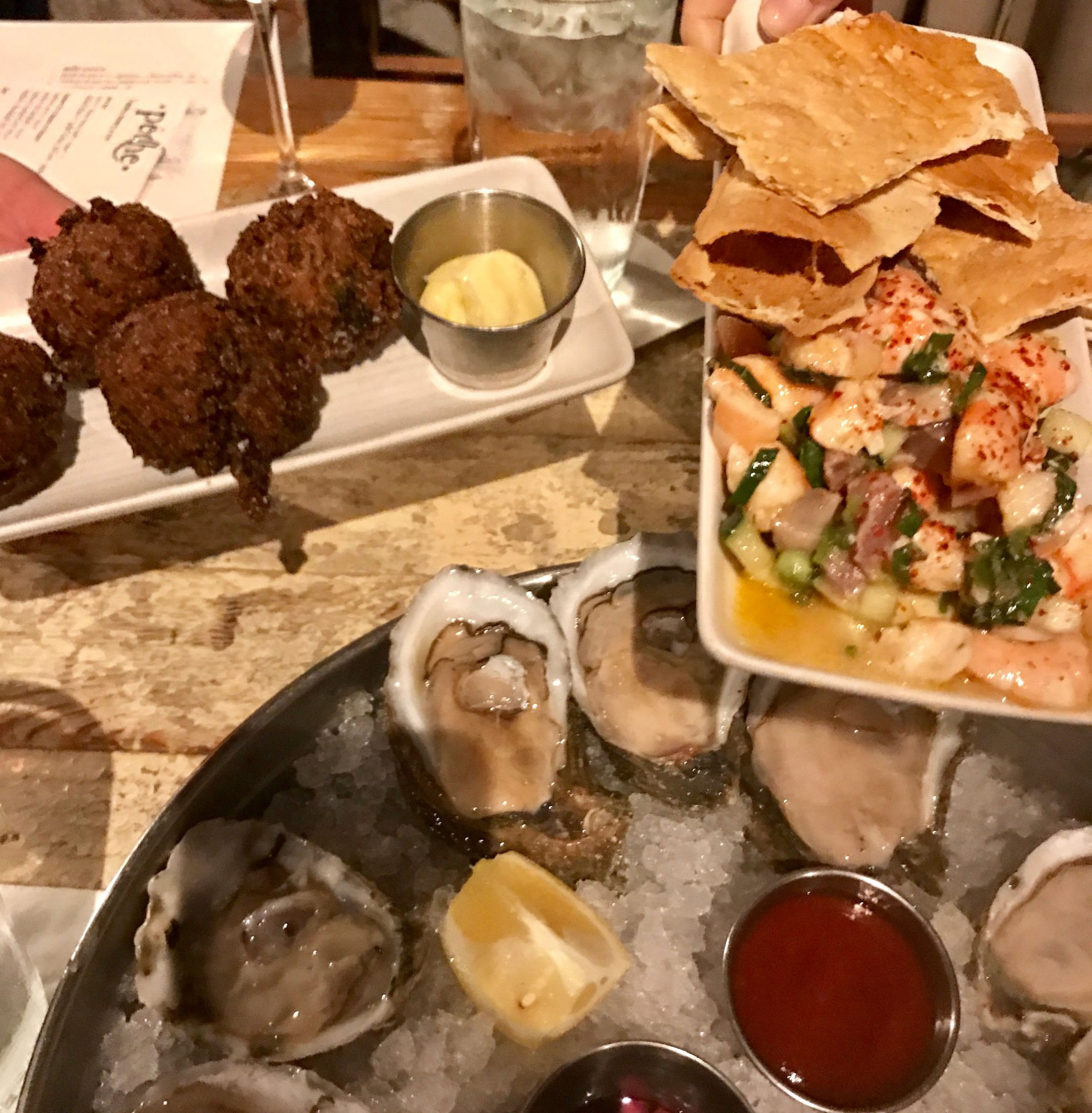Food Assortment at Peche in New Orleans