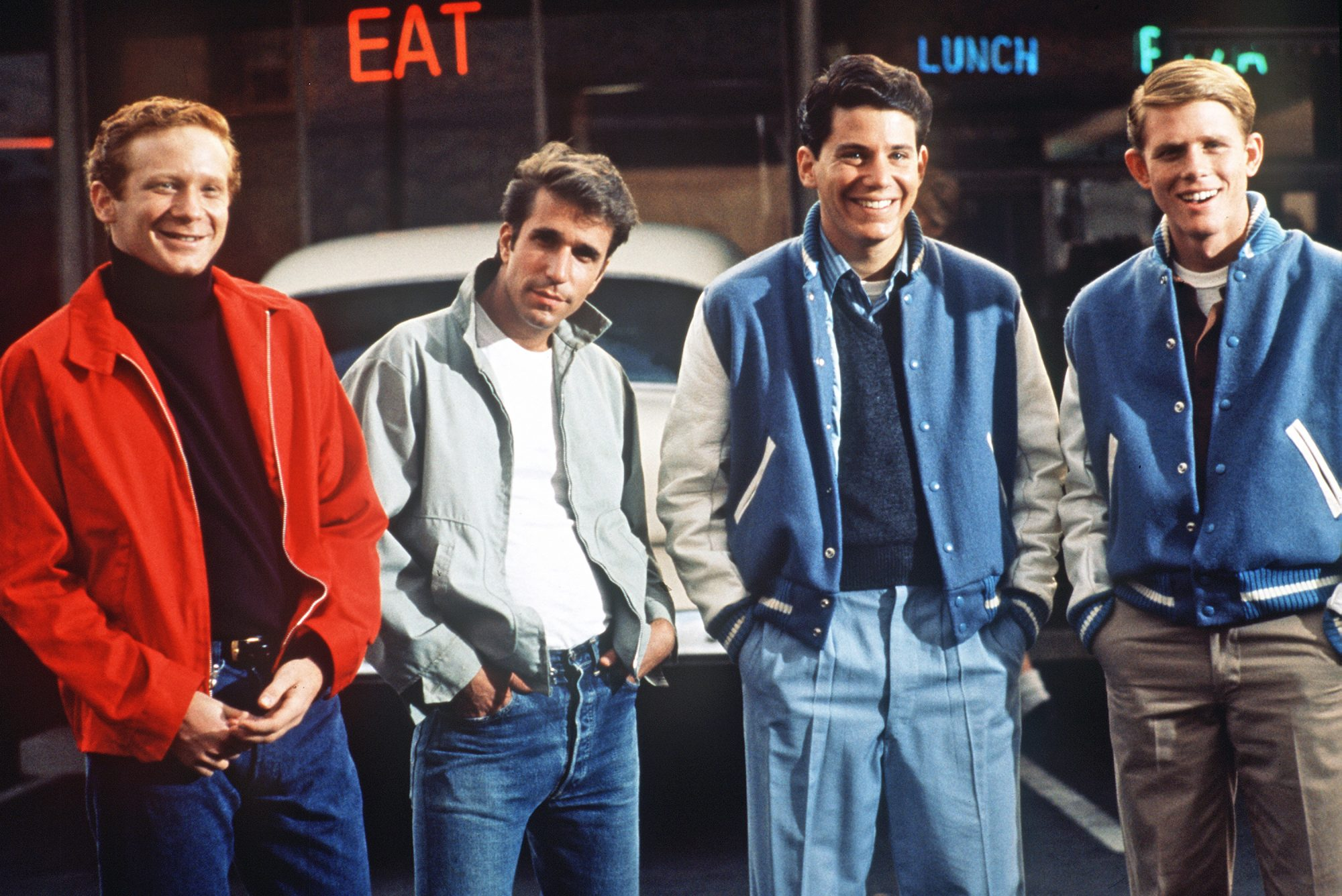 Donny Most, Henry Winkler, Anson Williams, and Ron Howard